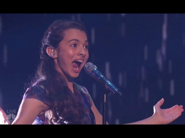 Laura Bretan Child Opera Singer Hits SHOCKING Notes | Semi-finals (FULL)| Americas Got Talent 2016