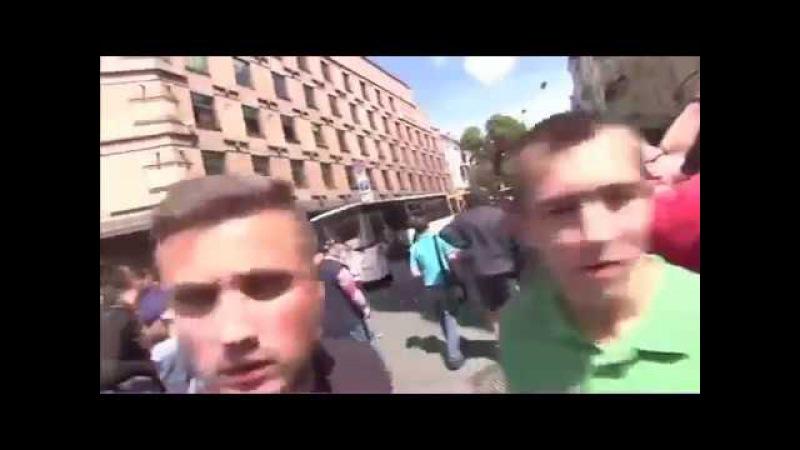 Укр.молодёжь: «Зиг хайль, Рудольф Гесс, Гитлерюгенд, СС!»