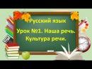 Русский язык. Начальная школа. Урок №1. Тема: Наша речь. Культура речи