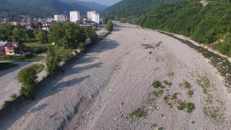 Лазаревское река Псезуапсе 4К(полный экран)