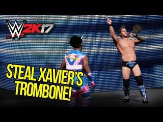 WWE 2K17: STEAL & PLAY XAVIER'S TROMBONE! (Entrance Breakout!)