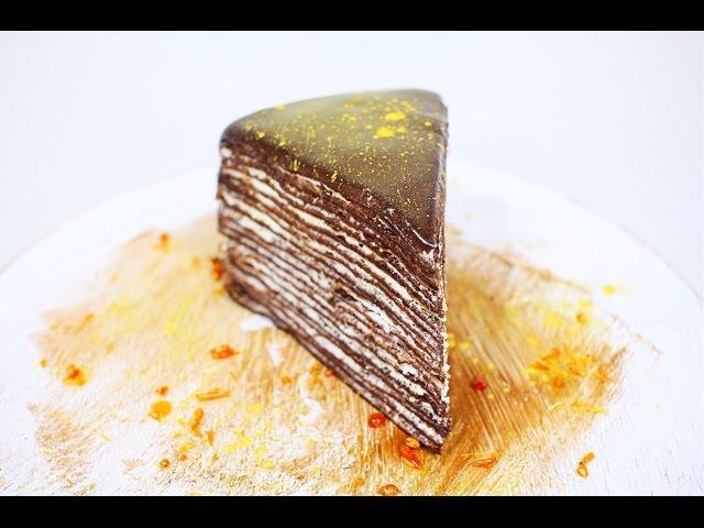 Блинный Шоколадный Торт Crepe Chocolate Cake