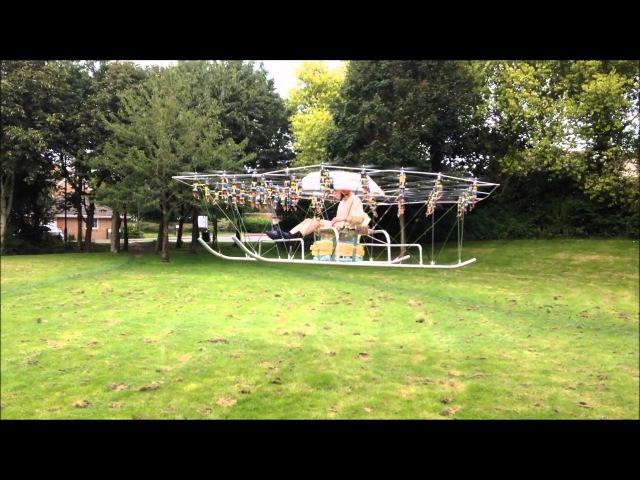Дрон с 54 винтами - The Swarm Manned Aerial Vehicle Multirotor Super Drone Flying