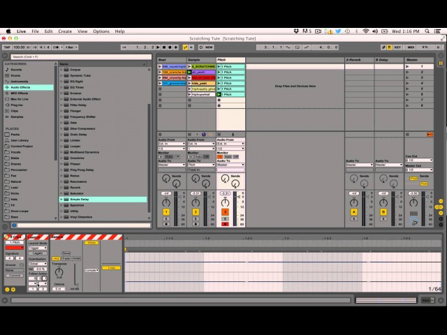 How To Create Record Scratching Crab Sounds With Two Ableton Live Effects