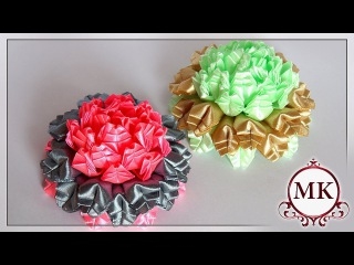 "Цветы из лент. Лепесток ""Ёлочка"". Канзаши. МК. / DIY. Ribbon flowers. New petal. Kanzashi."