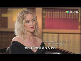 Jennifer Lawrence & Chris Pratt In Depth Interview on: Fame, Love