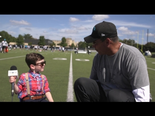 Kids club reporter one-on-one with ron rivera watch as the head coach sits down for an interview with our kids club reporter,