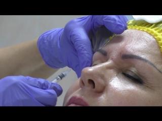 Процедура введения ботекса для устранения межбровных морщин. Врач-косметолог Ирина Зайцева