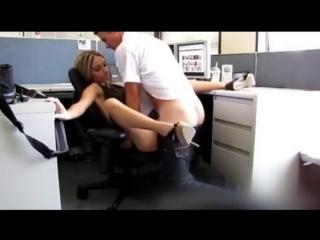 Начальник трахнул секретаршу прямо в офисе секс, блондинка, порно, молодая