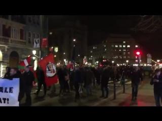 В Бильбао проходит митинг против болельщиков Спартака. Фанатов красно-белых называют нацистами