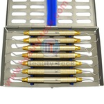 Periodontal Gracy set of 7 pieces with sterilization cassette