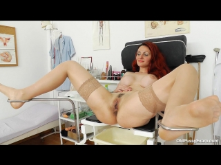 [oldpussyexam] beatrix [medical fetish, gyno exam, milf, stockings, pissing, gaping, mature, pussy closeups, speculum]