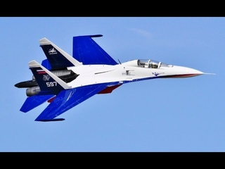 """GIANT 1/6 SCALE RC CARF SUKHOI SU-27 """"FLANKER"""" TWIN TURBINE COLD WAR FIGHTER - BMFA NATIONALS - 2017"""