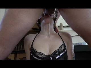 Open mouth gag facefuck deepthroat -