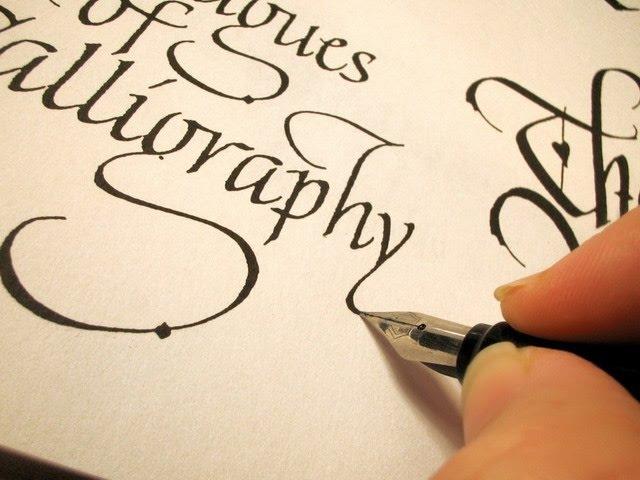 Каллиграфический почерк Красивый почерк