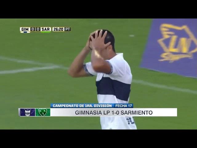 Resumen y gol Gimnasia LP 1 0 Sarmiento de Junín
