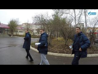 Встреча футболистов ФК Оренбург со школьниками
