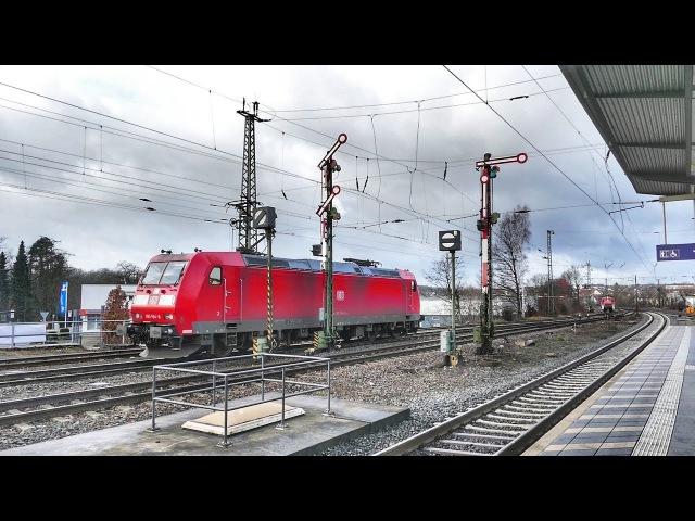 Silvestervideo - Neuer Bahnhof und alte Formsignale - Stadtallendorf in Nordhessen......