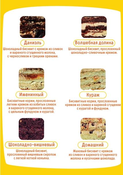 начинки тортов в разрезе фото с описанием может быть слишком
