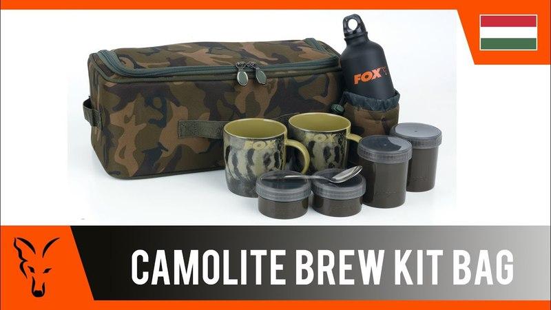 ***FOX CARP FISHING TV HUNGRY*** Camolite Brew Kit Bag