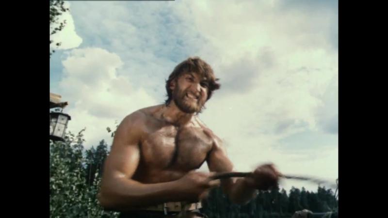 Зверобой (1990) Нападение индейцев на плавучий дом Томаса Хаттера