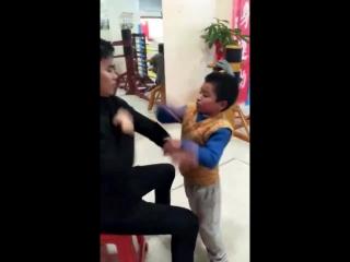 Chinese kong fu china chen ming chuan(9 years old),wing chun style training