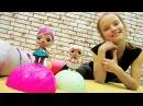 Куколки ЛОЛ на занятии по гимнастике. Видео для девочек