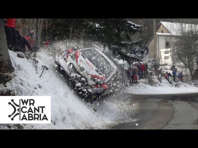 58 WRC Rally de Montecarlo 2018 Action close calls