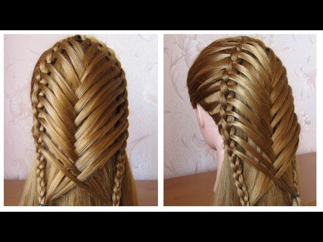 Coiffure pour tous les jours cheveux mi long long 💗 Coiffure avec tresse 💗 facile à faire