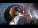 Chiusura di un cesto con la bordura a 3 coppie
