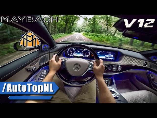 MERCEDES MAYBACH S600 6.0 V12 BiTurbo POV Test Drive by AutoTopNL