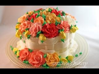 Basketweave Flower Cake for Beginners