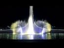 Поющий фонтан ночью Кукушка Олимпийский парк Сочи
