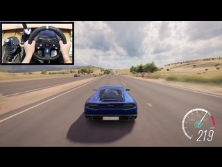 [gtoofast] forza horizon 3 driving lamborghini huracan lp 610-4 (steering wheel + paddle shifters) gameplay