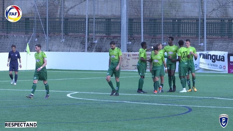 RESUM: Copa Constitució Protecvall, 1/4 de final. UE Sant Julià - M-Perruquers Atl. Escaldes (3-0)