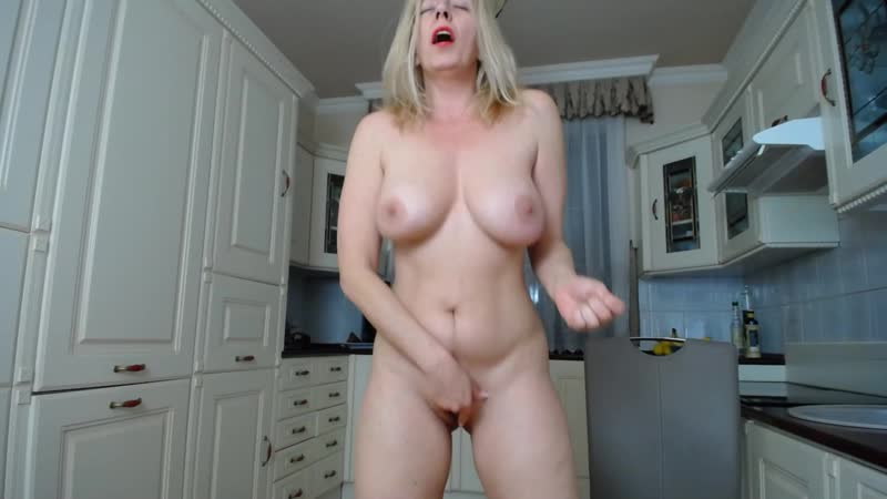 Stunning Busty Blonde Housewife Masturbating In The Kitchen Primecurves 1