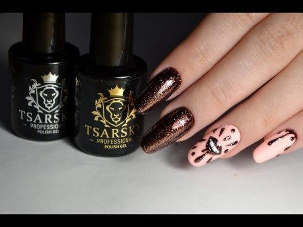 Дизайн ногтей губы, работа на материалах ТМ Tsarsky