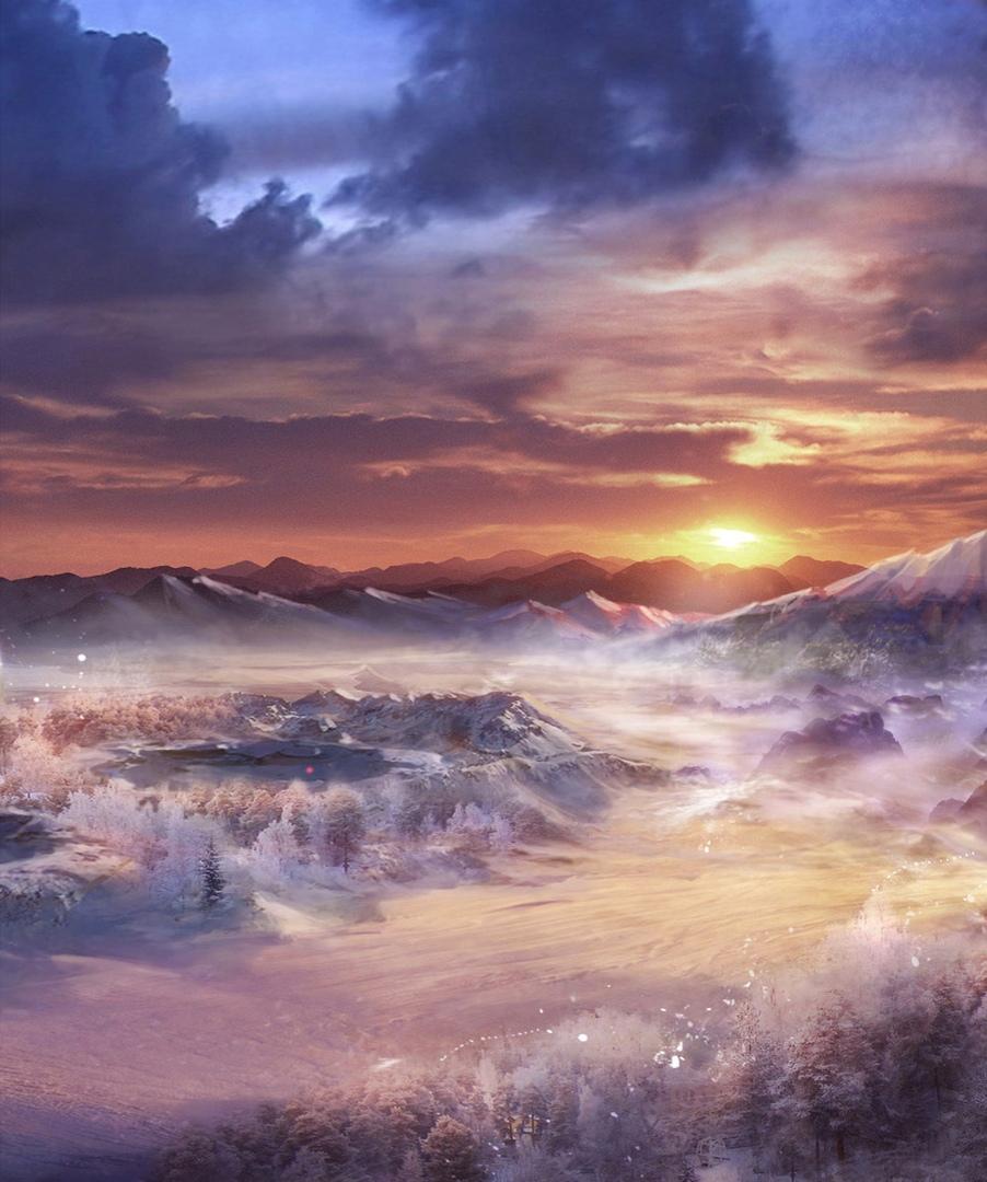 Зимний пейзаж фото высокого качества бойцы, включая