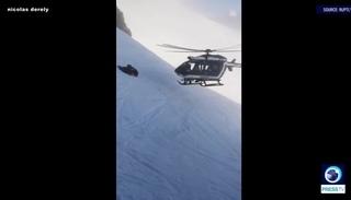 фантастическое мастерство пилота при спасении травмированного лыжника, Французские Альпы 03 января 2019