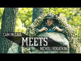 MTB Legend Cam McCaul meets up with Nicholi Rogatkin. | McCaul Meets