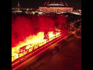 Поддержка болельщиков перед матчем Зенит-Фенербахче