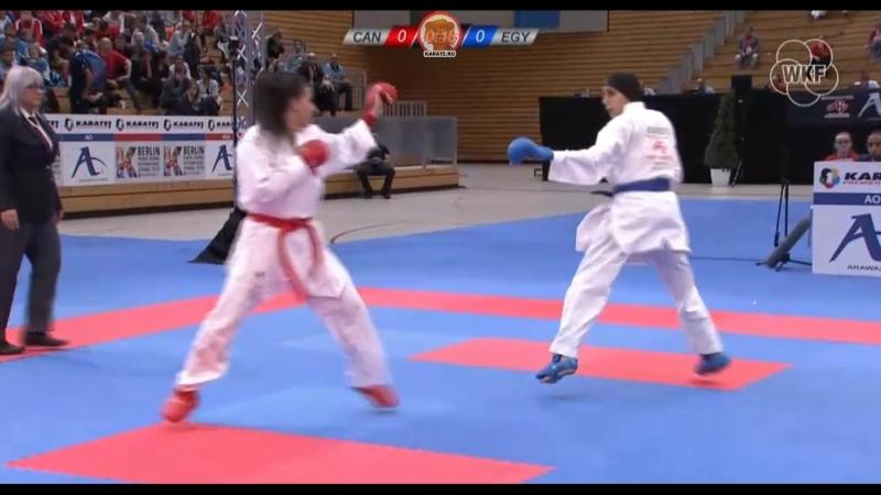Бронзовый финал в женском кумитэ до 61 кг Хайа Джумаа Канада Джиана Лотфи Египет