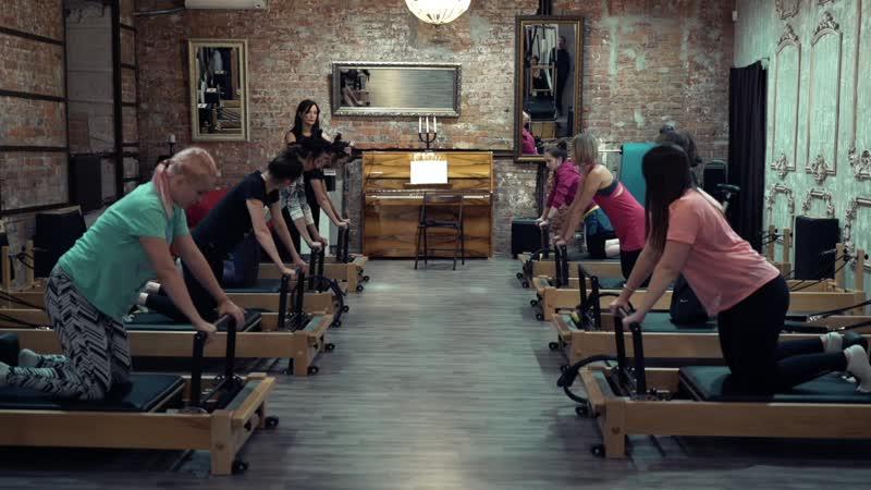 Упражнение Четырёхугольник весовая нагрузка на руки школа TopPilates