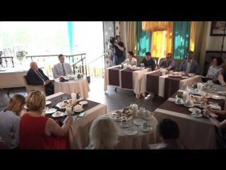 Пресс-завтрак с заместителем Губернатора В.В.Рябишиным