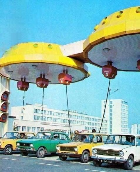 Автозаправка. Киев, 1980 год.