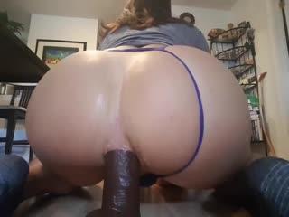 BubbleBumButt Fucking Two Dildos (Shemale, Tgirl, Tranny, Sissy)