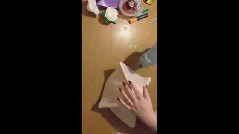 Бесплатный МК светильника Букет белых Роз от Надежды Щёголевой 1