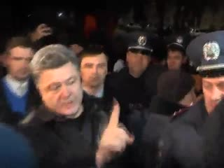 Теплая встреча Порошенко в Крыму!