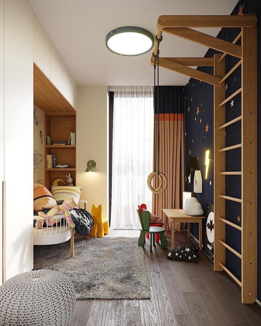 Интересные решения в дизайне детской комнаты