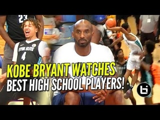 KOBE BRYANT WATCHES BEST HIGH SCHOOL PROSPECTS  at Nike Academy! Cole Anthony, Cassius & MORE!